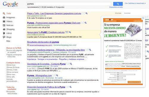 Ejemplo de Google Instant Preview