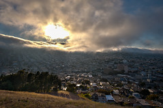 Bernal Heights Sunset (Amicus Telemarkorum) Tags: sanfrancisco california park city sunset summer weather clouds outside august bernalheights 2011 jeffrueppelphotography