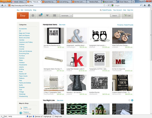 Etsy Front Page Treasury