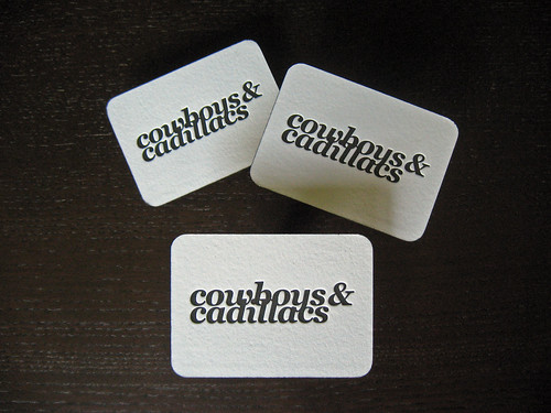 Cowboys & Cadillacs Letterpress Cards
