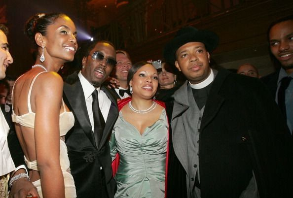 Kim Porter, Rev Run, Justine Simmons and Diddy