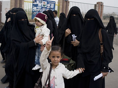 Women and children (Al Jazeera English) Tags: aljazeera protest yemen sanaa unrest saleh