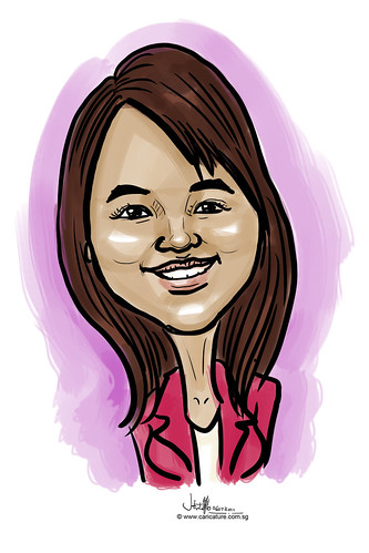 digitcal caricature live sketching for Utell Hotels and Resorts - 5