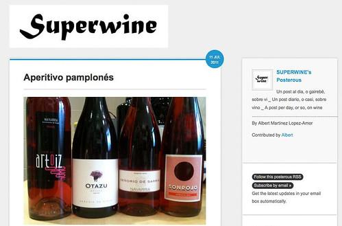 Sonrojo para el aperitivo pamplonés en Superwine