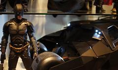 The Dark Knight with the Tumbler (lights on) (StephenHii) Tags: hot cars dark toys vision batman knight sonar diecast tumbler moviemaster