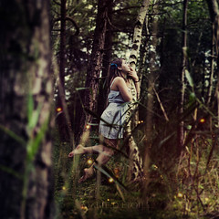The Balancing Act. (Marie Dcker) Tags: life light portrait girl fairytale canon woods levitation manipulation balancing 50mm18 eos450d conceptualphotography thebalancingact