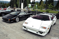 Lamborghini Countach 25th Anniversary with Diablo (Dylan King Photography) Tags: roof red white canada black ford car yellow vancouver silver square de whistler lights spider nikon highway downtown driving doors open bc britishcolumbia anniversary interior stripes side rear wheels gray wing 360 ferrari front spyder exotic dodge diablo olympic 500 25th gt carbon fiber rims viper panning rosso lamborghini squamish rare supercar rolling v8 tracking skirts matte v10 exhaust countach intake murcielago pantera v12 venom lambo alcantara seatosky 355 gt5 tomaso 458 2011 d90 novitec