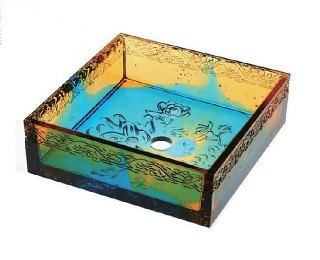 colored glaze art washbasin flourishing