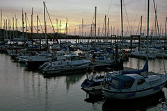 Port Edgar Marina (mcrossco) Tags: sunset sun marina boats edinburgh sailing harbour getty yachts setting masts riverforth yachtclub southqueensferry sailingclub sailingboats portedgar forthestuary