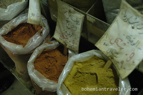 Spices at the market in Nablus