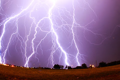 [Free Image] Nature / Landscape, Lightning / Thunderbolt, United States of America, 201110032300