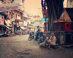 Varanasi street (Irene2005) Tags: street india vintage candid varanasi uttarpradesh pointshootcamera leicadlux4 texturebyjessicadrossin