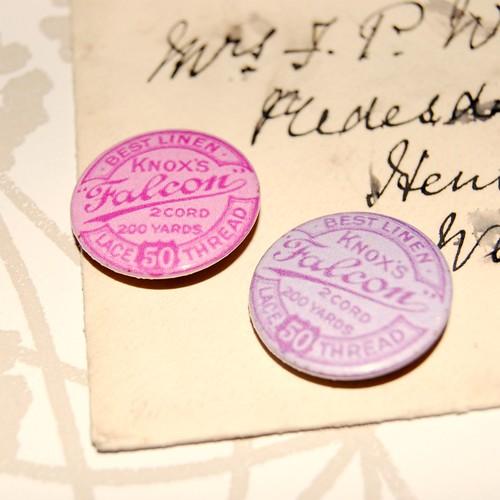 Vintage Thread Badge by gracefaceboutique