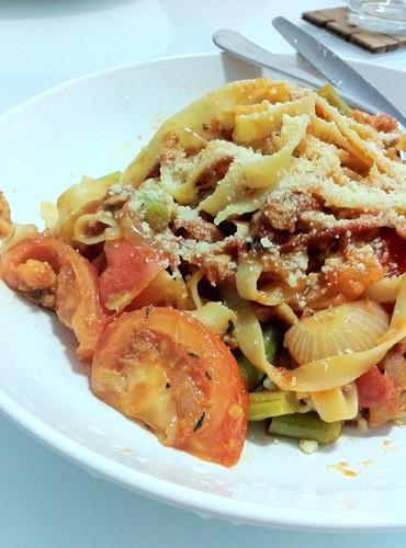 Spicy Tuna Tagliatelle Pasta