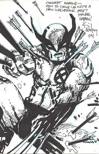 "Panel to Panel :: WOLVERINE ""Blank Variant"" cover ..concept by Kevin Eastman (( 2011 )) [[ Courtesy of P2P ]]"