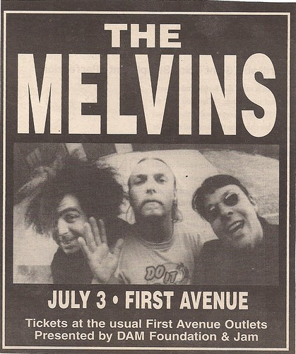 07/03/02 The Melvins/Jucifer @ First Avenue, Minneapolis, MN (Ad 1)