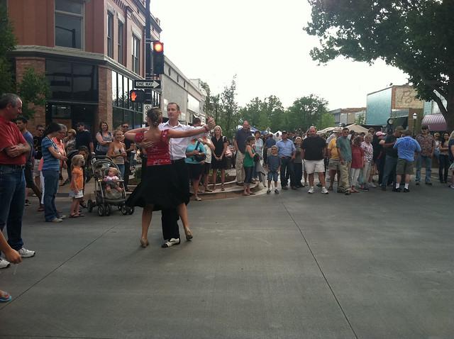 Street ballroom dancing at Farmers' Market