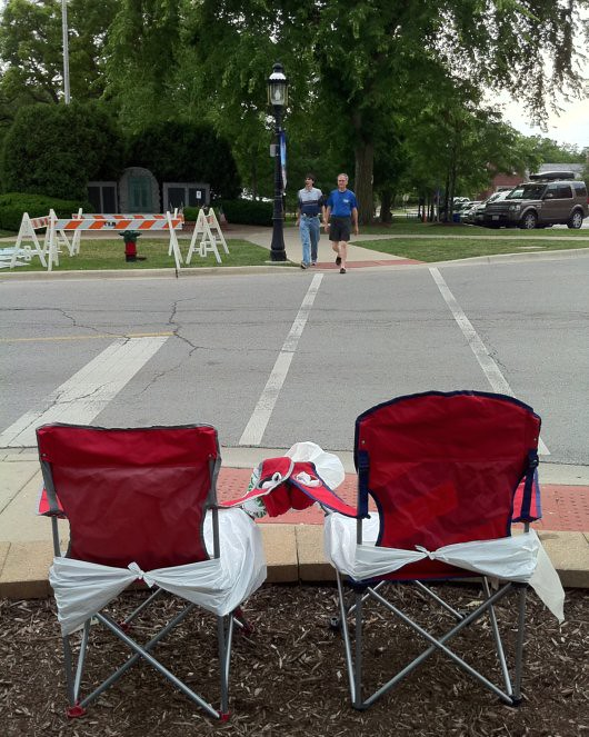 Friends of America Chairs Wait for the Parade