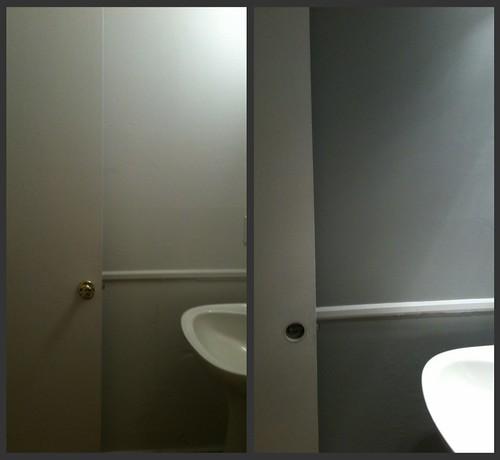 bathroom: sink/door biew