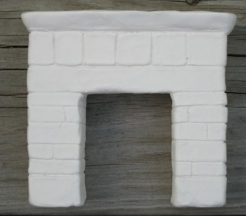 Fireplace for 1:12 scale cottage by elizabeth's*whimsies