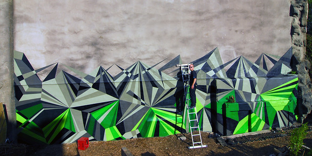 MWM Scotland : Green Monster Mural.