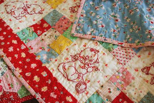 baby animals quilt by nanaCompany