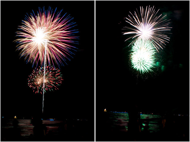 July 4th fireworks diptych 23
