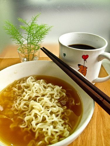 IMG_1365 Instant noodle and coffee for breakfast