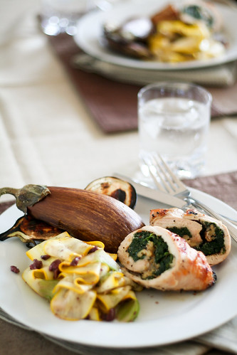 Spinach and Blue Cheese Chicken Roulades