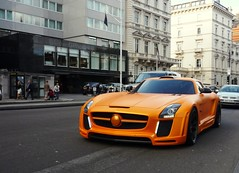 Gullstream (BenGPhotos) Tags: fab orange car design mercedesbenz tuning supercar spotting matte sls amg gullstream worldcars