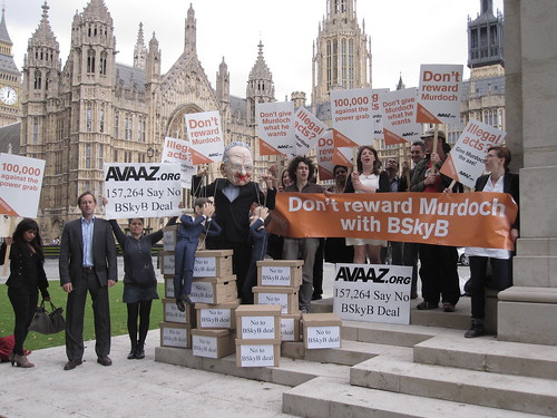 Our protest against the BSkyB deal