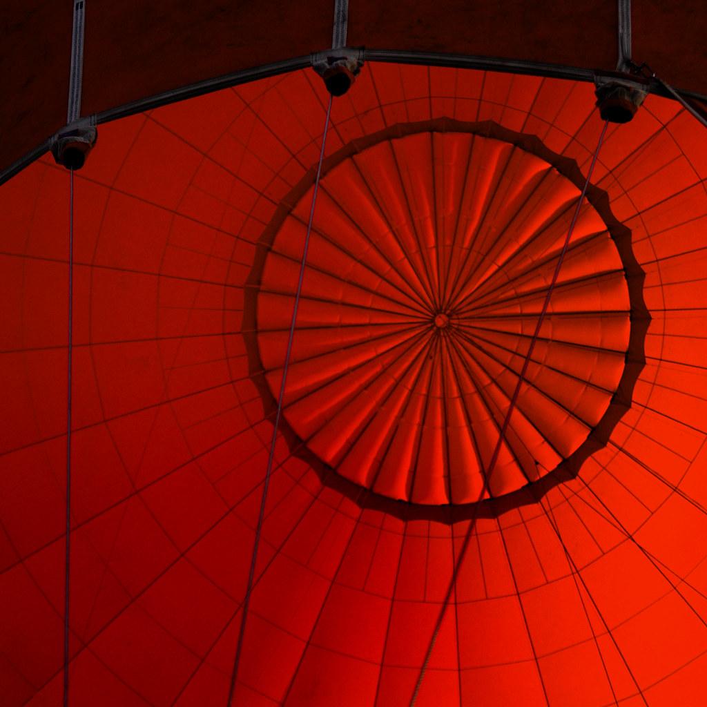 UK - Oxon - Balloon Flight - Balloon abstract sq