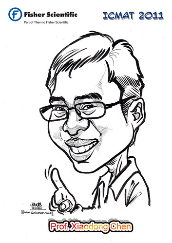 Caricature for Fisher Scientific - Prof. Xiaodong Chen