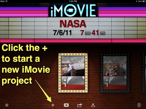 1 (iMovie for iPad) Start a new project
