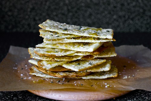 flatbreads with thyme, honey and sea salt