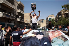 King's Supporters - Amman, Jordan (Maciej Dakowicz) Tags: city democracy king country capital banner protest amman middleeast arabic jordan arab arabia supporter protester kingdomofjordan deomonstration abdullahii