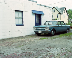 Corvair (michaelgoodin) Tags: chevrolet 120 mamiya film mediumformat pittsburgh fuji pennsylvania july chevy pros pro 6x7 corvair rb67 2011 tarentum 160s cartifacts