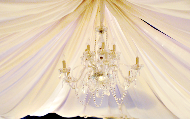 chandelier center tent