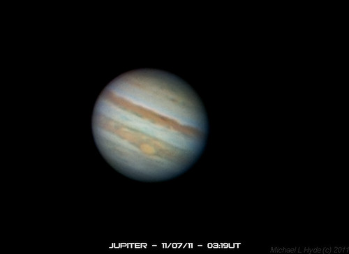 Jupiter 110711  0319UT by Mick Hyde