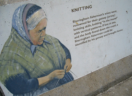 Knitting wall painting