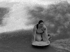 Woo Hoo!!! (sfroehlich1121) Tags: bw girl canon fun surf texas tx surfing schlitterbahn newbraunfels boogieboard g9