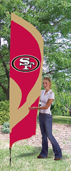 San Francisco 49ers Tall Feather Flag