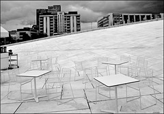 the terrace (leuntje) Tags: bw oslo norway norge terrace operahouse noorwegen operahuset snøhetta lundevall arkitektkontoretsnøhettaas