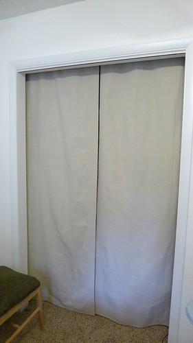 Closet Curtains Hung