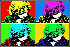 Silkscreen Cutie (Andy Magee) Tags: portrait colour art andy artist child popart silkscreen layer warhol multiple repeat magee andymagee