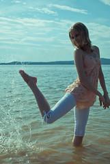 (Katya_Malutina) Tags: summer portrait feet water girl nikon warm d3000