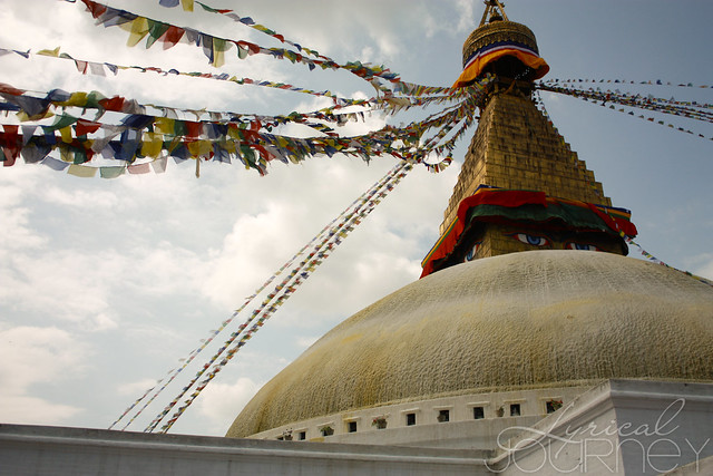 Stupa Prayer Flags