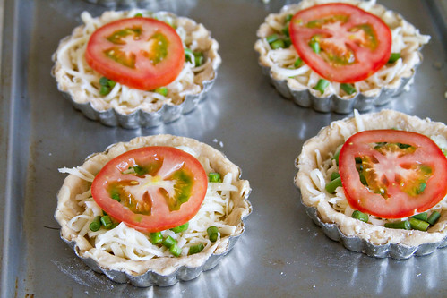 Garlic Scape and Tomato Tartlets - 4