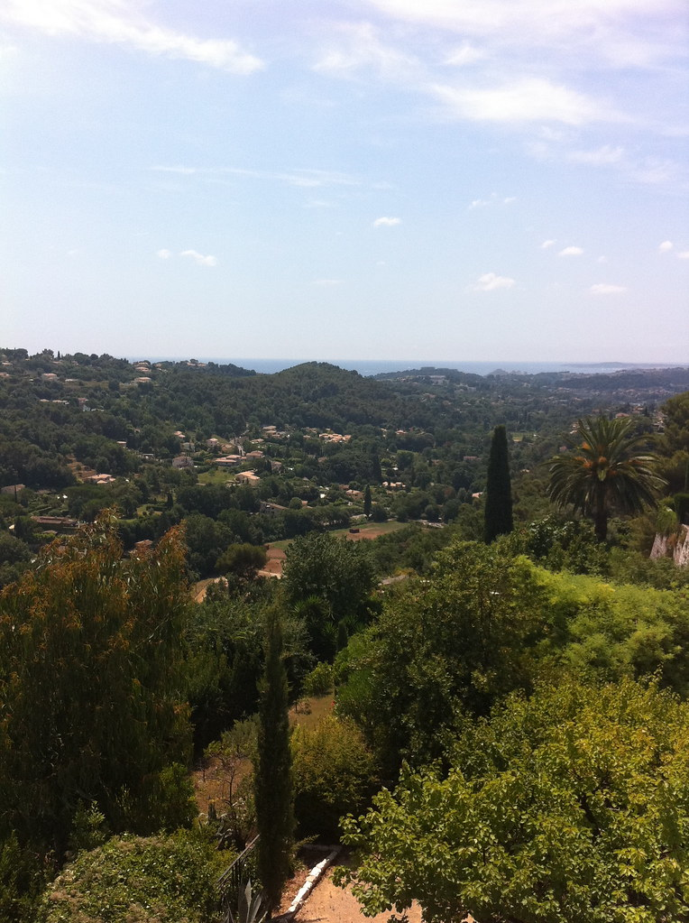 View over the valley to the sea