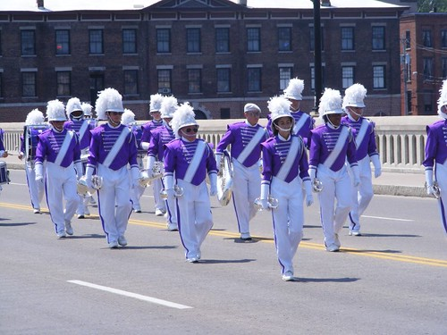 One of many marching bands
